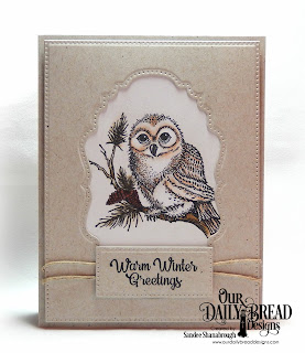 Our Daily Bread Designs Stamp Set: Winter Greetings, Custom Dies: Double Pierced Vintage Labels, Pierced Rectangles