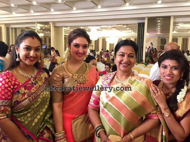 Preeta Hari and Sridevi's Jewellery