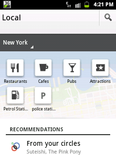 Google Maps Local Android