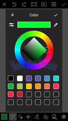 Tentukan warna yang akan digunakan