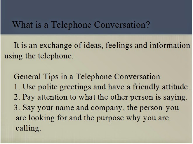 Using the telephone ~ A thru Z of English