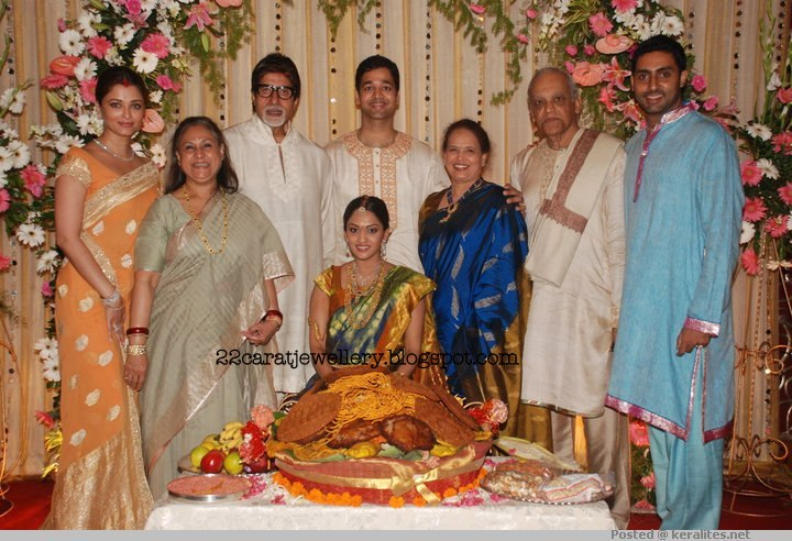 Iswarya Rai Wedding.Aishwarya Rai Sister Wedding Jewellery Jewellery Designs