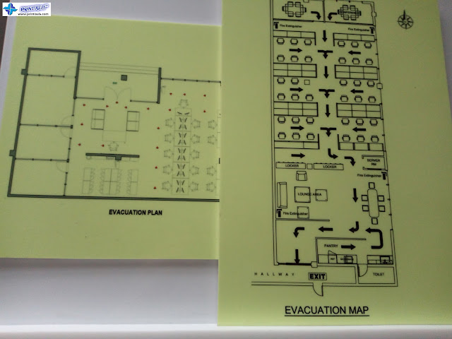 Photoluminescent Evacuation Maps