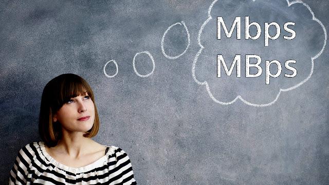 perbedaan Mbps dan MBps, apa itu bit, apa itu byte, ukuran bandwith
