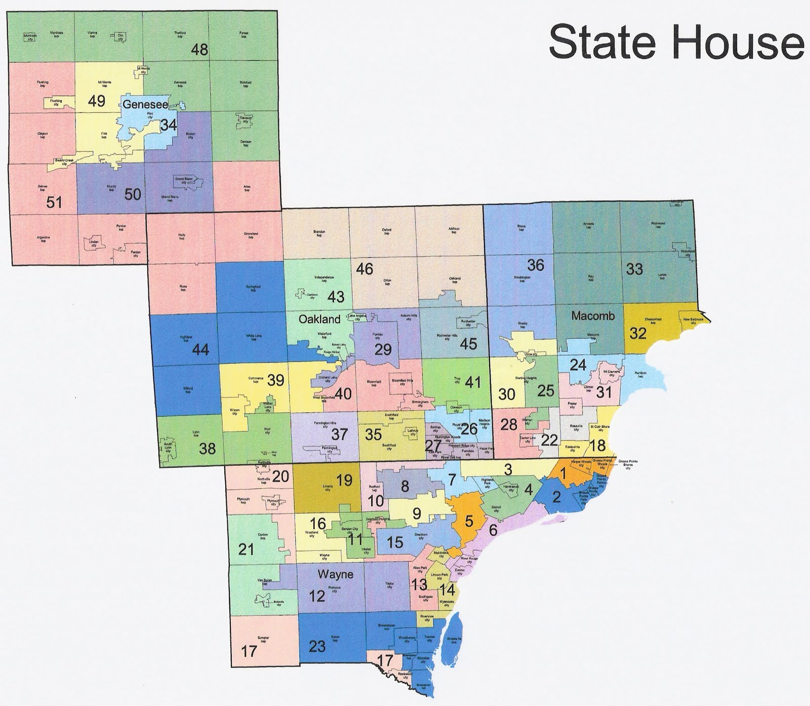 michigan redistricting alternative html us house of representatives district map michigan