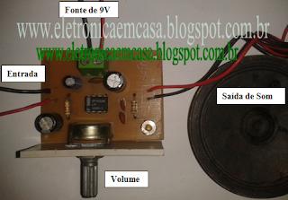 Amplificador de Audio http://eletronicaemcasa.blogspot.com.br/
