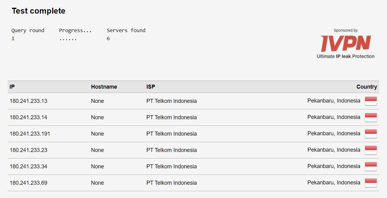 DNS Telkom Indihome Pekanbaru