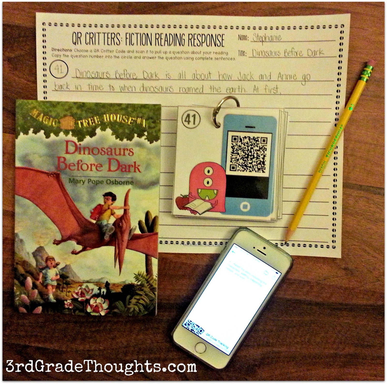 3rd Grade Thoughts Qr Critters Fiction Amp Nonfiction Questions For Reading Responses