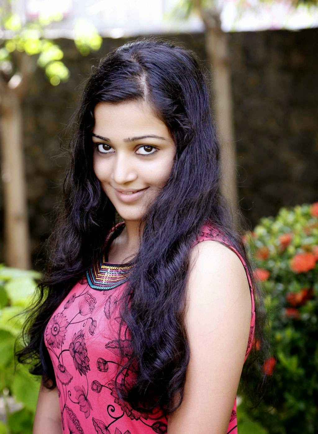 Actress Samskruthy Shenoy Latest Cute Hot Exclusive Pink Top Dress Spicy Photos Gallery