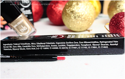 inci red lip pencil rosso  best wishes TNS cosmetics Christmas