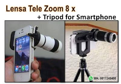 harga aksesoris hp, jual lensa tele murah, lensa kamera hp, lensa tele hp, lensa tele zoom, lensa tele zoom 8x, Lensa Tele Zoom 8x For Smartphone