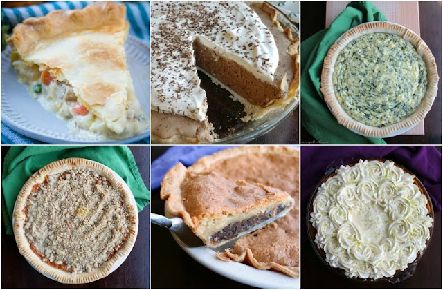 collage of 6 pies