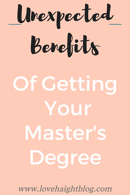 Benefits of getting a Master's Degree