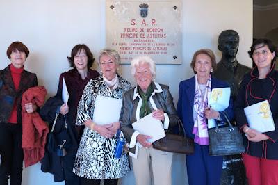 Tertulianas de El Garabato en la presentación de la  Pliego Premium en 2015 dedicado a la Princesa de Asturias