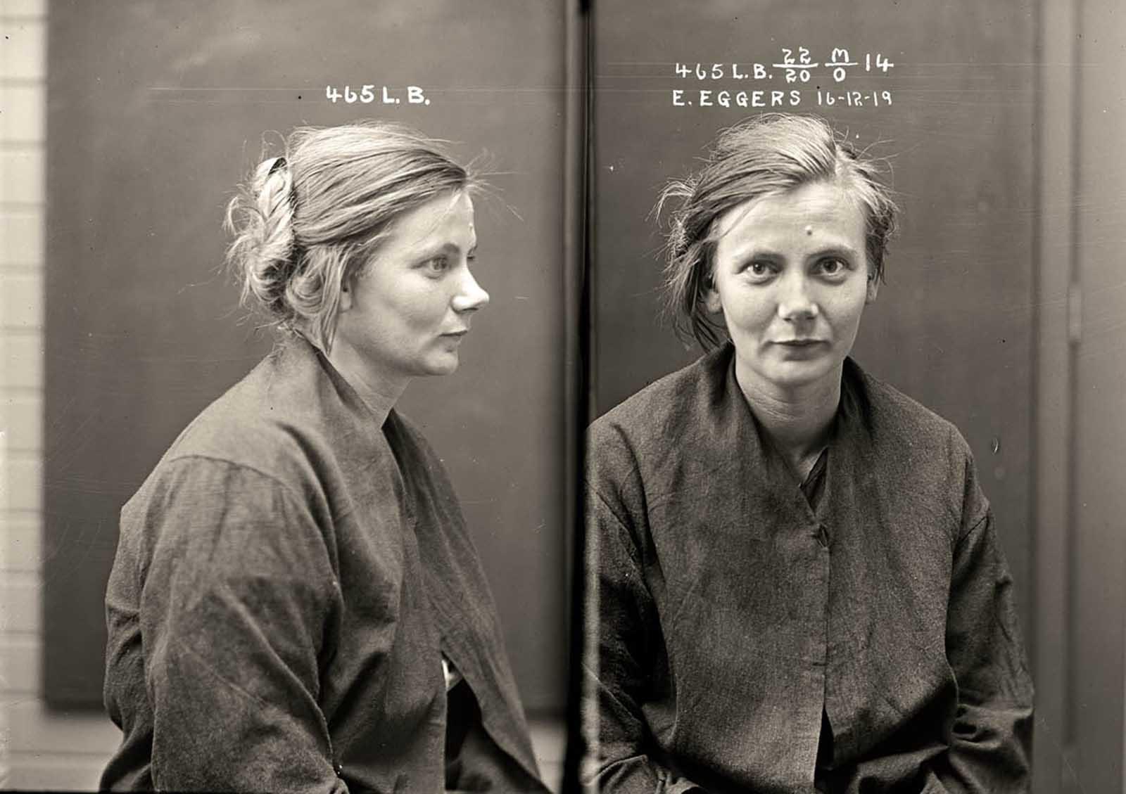 Esther Eggers. 1919.