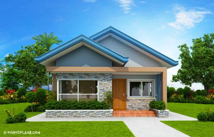 Three%2BBedroom%2BBlue%2BRoof%2BModern%2BHouse%2BPlan%2B %2BMyhouseplanshop - 43+ Simple Small House Design 1 Bedroom Images