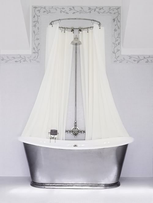 Circular Shower Curtain Rod To Da Loos Don T You Just Love Double Curtains