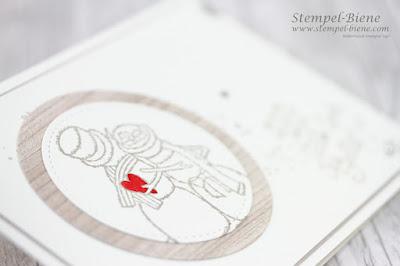 Stampinup; Dankeskarte Winterhochzeit, Hochzeitspapeterie; Hochzeitskarten basteln; Stampinup Recklinghausen; Spirited Snowmen; Stempel-Biene