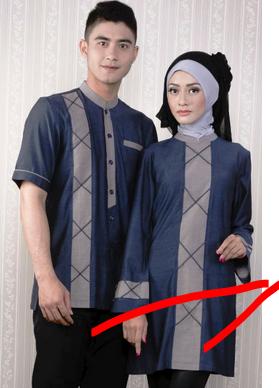 contoh baju muslim couple modern