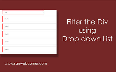 Filter using dropdown list