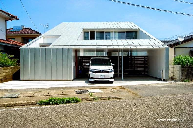 Casa urbana moderna en Miyazaki Japón