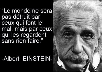 Citations option bonheur: Citation d'Einstein sur le monde qui va mal