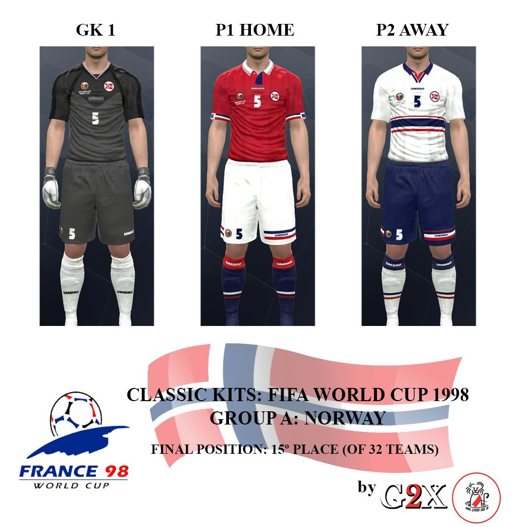 PES 2017 Classic Norway 1998 WC MADE BY G2X