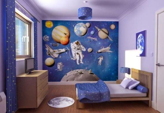 Interior kamar tidur anak laki-laki minimalis modern