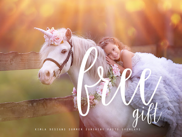 Summer Sunshine Photo Overlays Free Gift with purchase