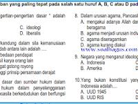Soal UAS PKN SMP Kelas 8 Semester 1