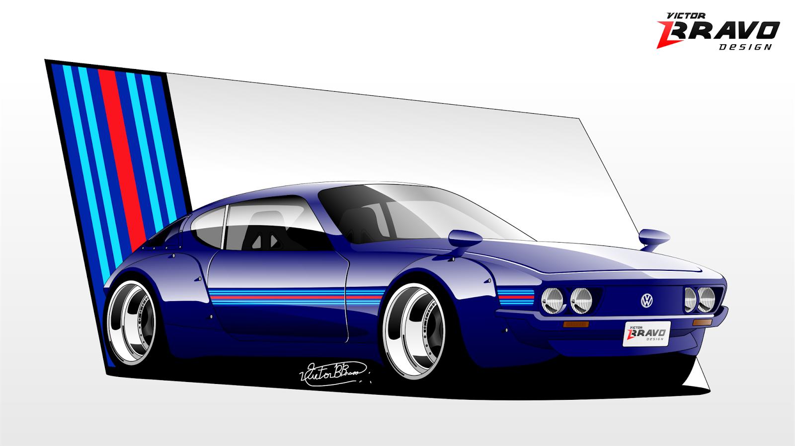 Volkswagen SP2 inspirado no visual dos Porsche RWB.