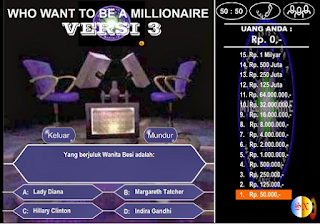 Download Game Kuis untuk PC Who wants to be a Millionaire Indonesia