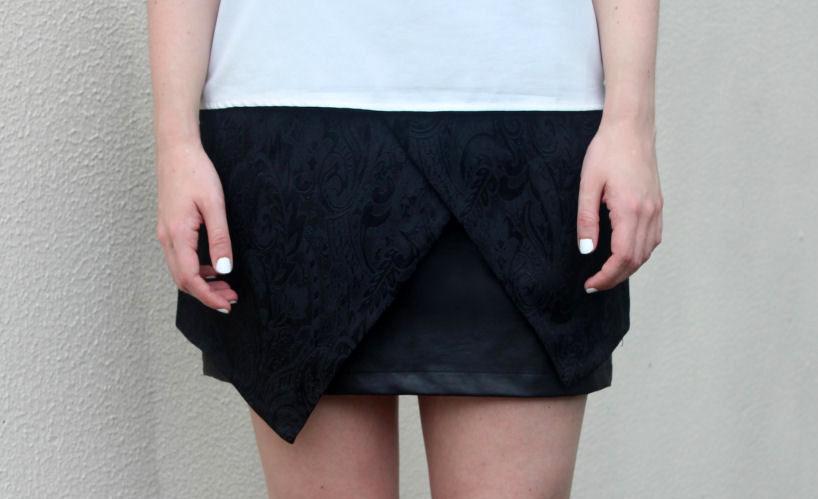 origami wrap skirt
