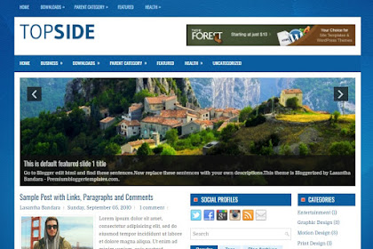 Free Download Topside Blogger Template