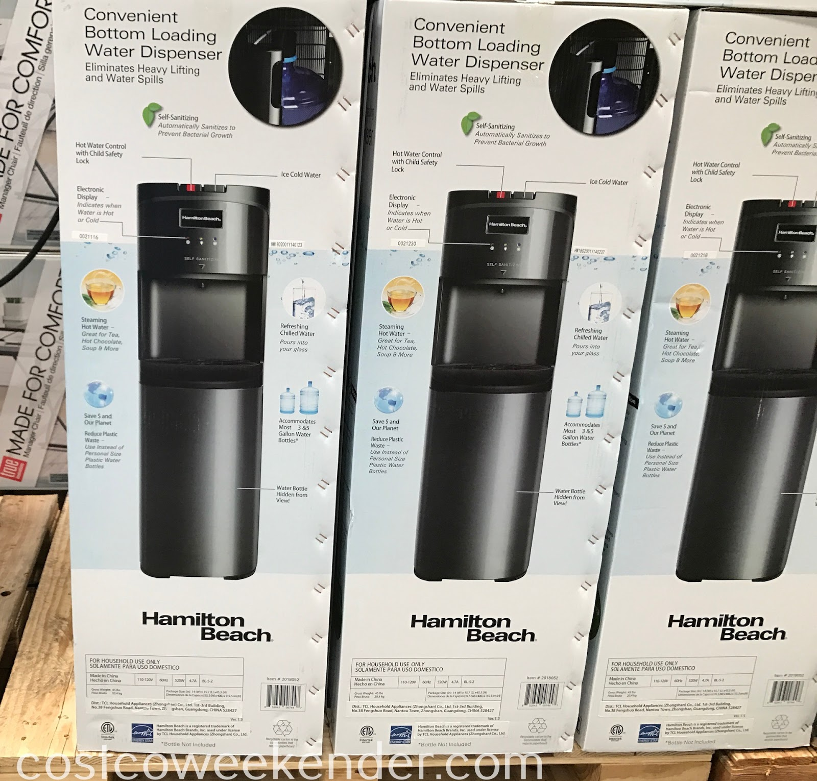 Costco 2018052 - Hamilton Beach Bottom Loading Water Dispenser: great for any home