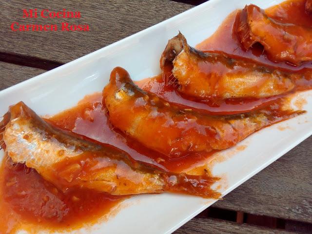 Sardinitas (manolitas De Malaga) En Salsa Con Comino Y Pimenton