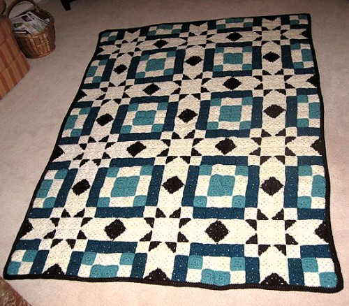 Blackford's Beauty Crochet Quilt - Free Pattern