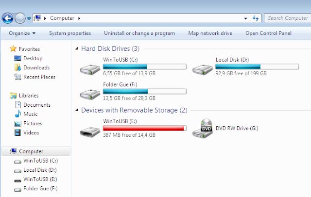 WintoUSB Windows 7
