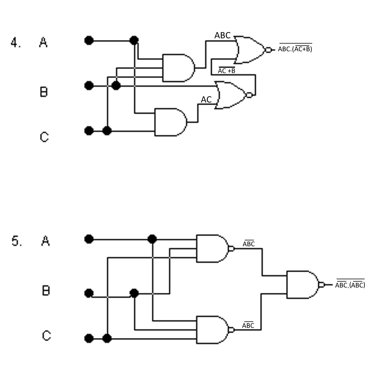 logic gate circuit examples