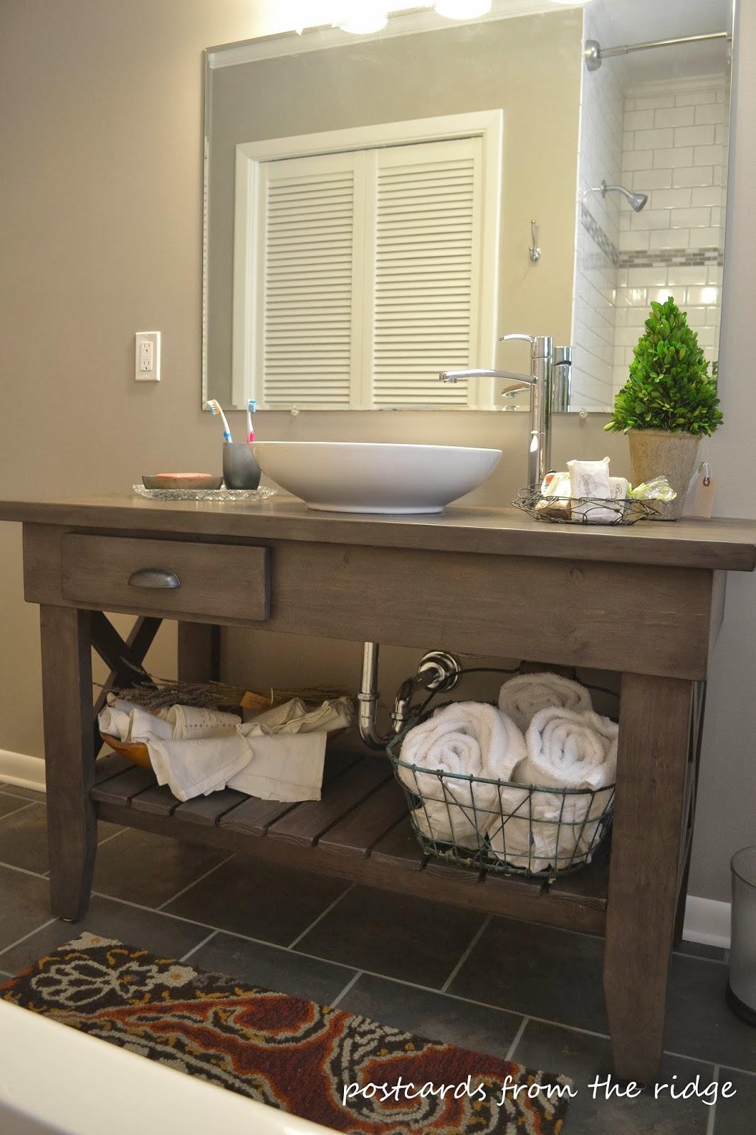 Stunning custom vanity in a nice overhaul of a 1964 bathroom.  Lots of great ideas here.
