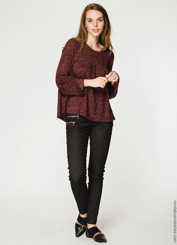Clásicos urbanos reversionados: Looks otoño invierno 2018 by Asterisco ropa de mujer.| Moda otoño invierno 2018 blusas.