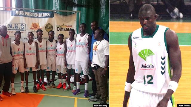 El equipo NBC Nianing de Senegal y pívot Boniface Ndong