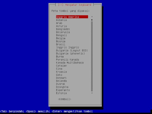 Instalasi Debian - Keymap untuk keyboard