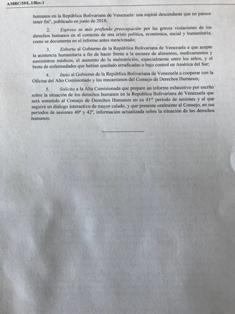 Consejo de Derechos Humanos de la ONU aprueba primera resolución de su historia sobre Venezuela