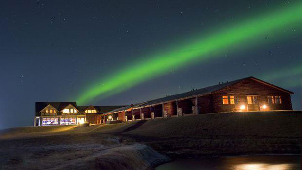 Awesome Aurora Picture at Ranga Hotel, Hella, Iceland