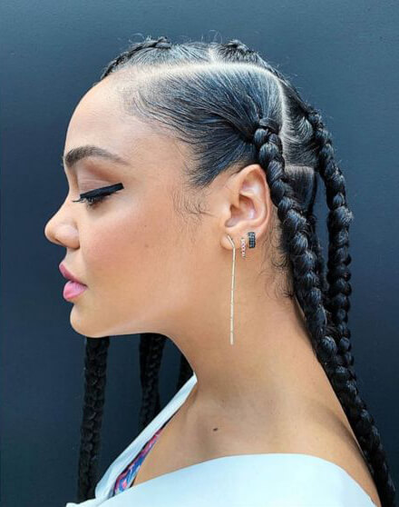 With every changing season and age comes new fashion trend and fashion styles 20 Latest Knotless Box Braids Styles Ponytails For African American