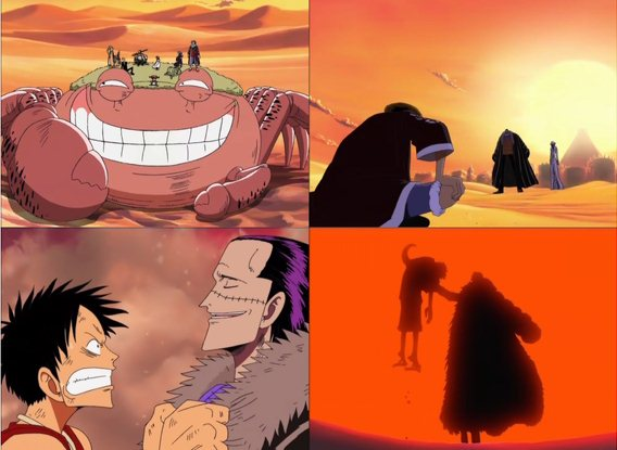 what chapter does luffy meet ace in alabasta
