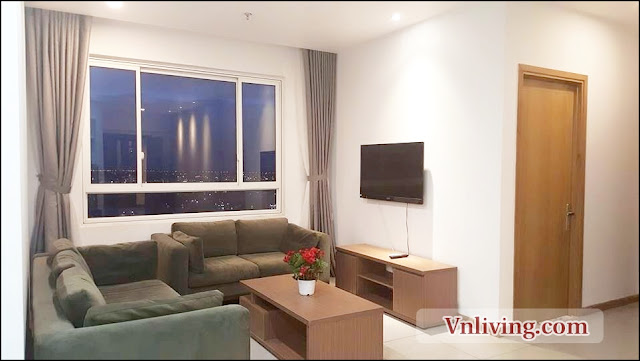 2 Bedrooms for rent in Masteri Thao Dien apartment facing swimming pool view