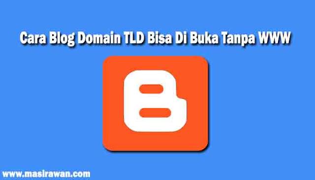 Cara Blog Domain TLD Bisa Di Buka Tanpa WWW