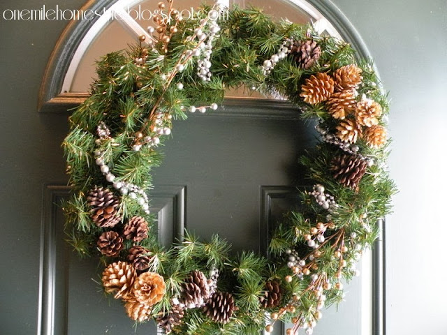 Silver and Gold Holiday Wreath